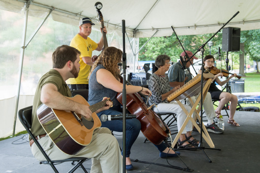 Stout Hearted String Band performs at MSTAFF200