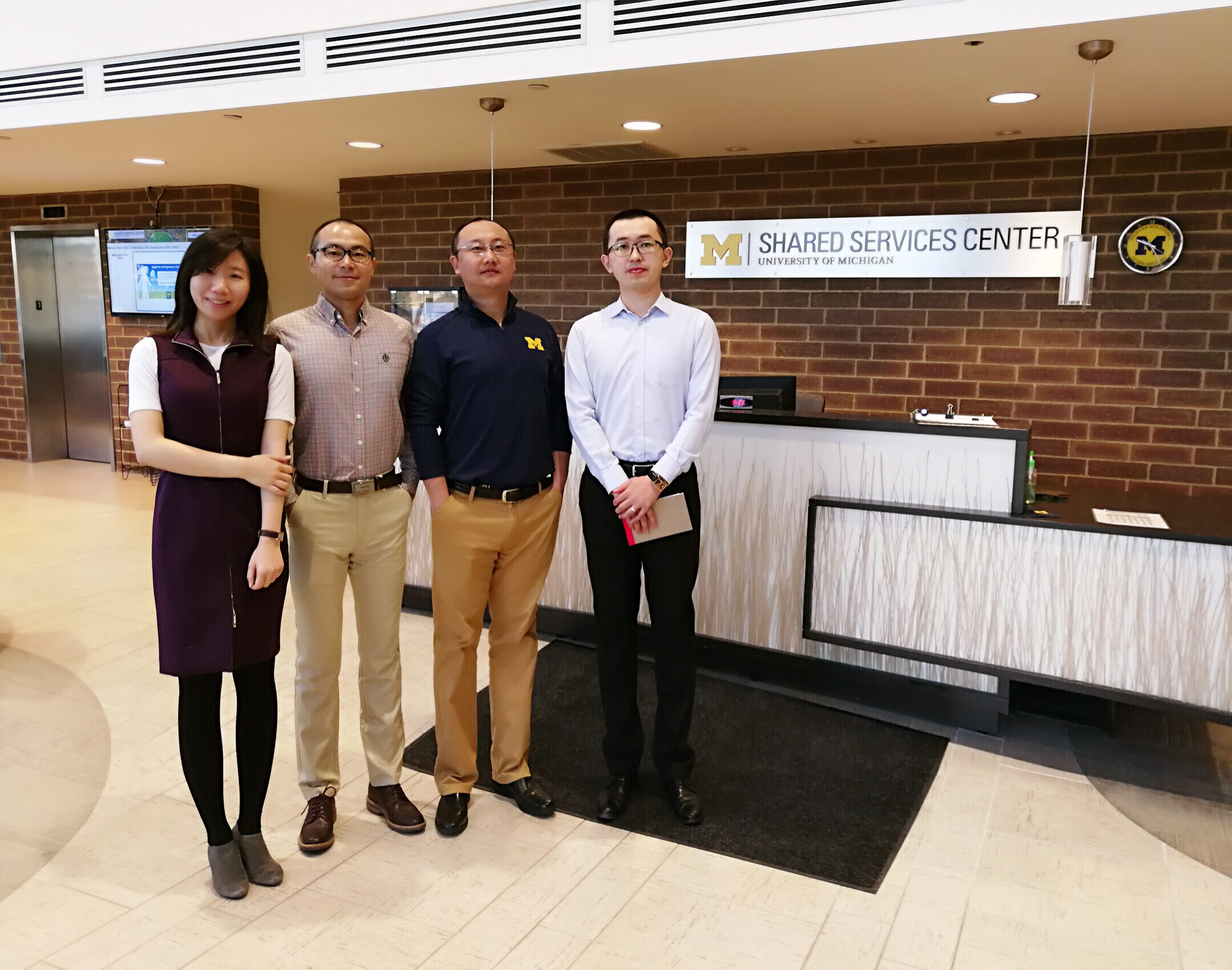 4 Ross School of Business graduate students at the SSC